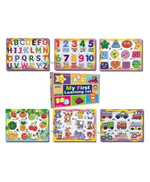 FunBlast Set of 6 Puzzles Wooden Puzzle for Kid -ABC, 123, Fruits, Numbers, Animals, Vehicles