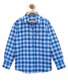 Campana Full Sleeves Check Shirt - Blue