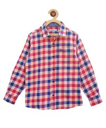 Campana Full Sleeves Check Shirt - Red & Blue