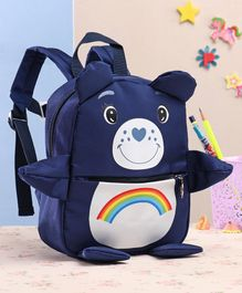 School Bag With Clip Lock on Waist Blue - 8 Inches