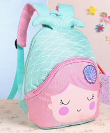 School Bag With 3D Fin Pink - 9 Inches