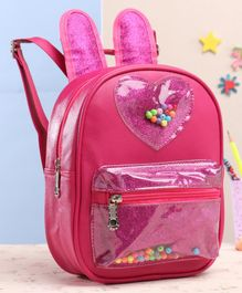 School Bag With Adjustable Strap Pink - 8 Inches