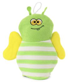 Bee Shape Bath Sponge - Green