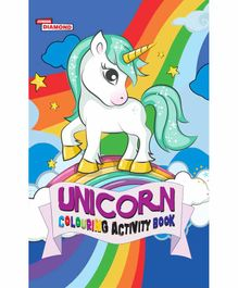 Jr Diamond Unicorn Colouring Activity Book - English