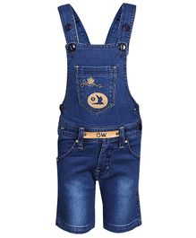 FirstClap Bird Patch Sleeveless Dungaree - Dark Blue