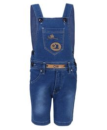FirstClap Bird Patch Sleeveless Dungaree - Light Blue