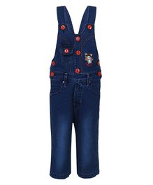 FirstClap Bear Embroidered Sleeveless Dungaree  - Dark Blue