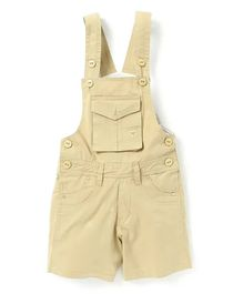 FirstClap Front Pocket Sleeveless Dungaree - Off-White