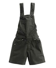 FirstClap Solid Sleeveless Dungaree - Green