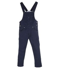 FirstClap Solid Front Pocket Sleeveless Dungaree - Blue