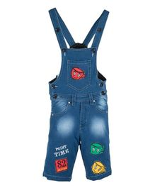 FirstClap Cup Patch Sleeveless Dungaree -  Blue