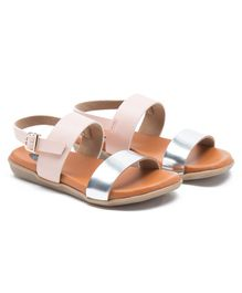 Beanz Dual Color Sandals - Brown & Pink