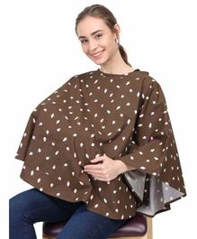 Grandma's Premium Nursing Cover Ice Cream Print - Brown