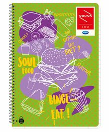 Youva Spiral Bound Single Line A4 Book (Assorted Cover Print) - 300 Pages