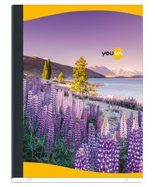Youva Tight Bound Single Line Ruled Note Books Pack of 12 - 172 Pages Per Book