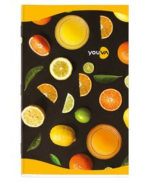 Youva Soft Bound Single Line Long Book Pack of 12 - 68 Pages Each