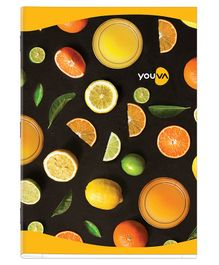 Youva Soft Bound Single Line Long Book Pack of 12 - 140 Pages Each
