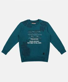 Li'L tomatoes Full Sleeves Letter Printed Sweatshirt - Blue