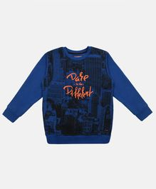 Li'L tomatoes Dare To Be Different Full Sleeves Sweatshirt - Royal Blue