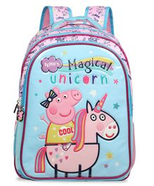 Peppa Pig School Bag with Hood Blue - 16 Inches