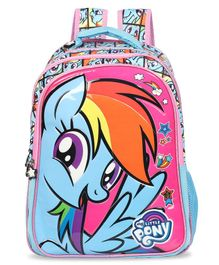 My Little Pony School Bag with Hood Blue - 16 Inches