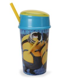 Minions Tumbler With Straw Yellow - 400 ml