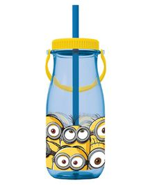 Minions Tritan Sipper Bottle With Handle Blue - 370 ml