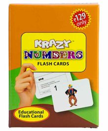Krazy Mini Numbers Flash Cards - 46 Cards