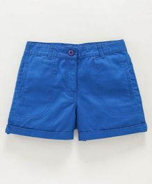 Natilene Front Pocket Shorts - Blue