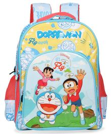 Doraemon School Bag Blue - 16 Inches