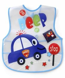 Alpaks Waterproof Apron with Pocket Car Print - Blue