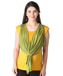 Morph Maternity Cap Sleeves Scarf Attached Top - Yellow