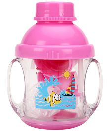 Baby Dreams 5 in 1 Twin Handle Feeding Cup- Pink (Print May Vary)