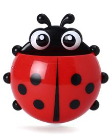 Ladybug Shaped Toothbrush Holder - Red