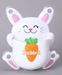 Toothbrush Holder Rabbit Design and Print - White
