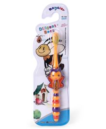 Toothbrush With Ultra Soft Bristles Bee Design - Orange Purple