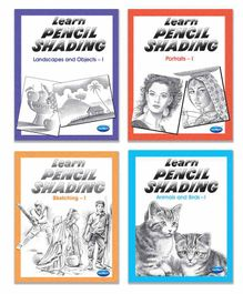 Navneet Learn Pencil Shading Books Pack of 4 - English