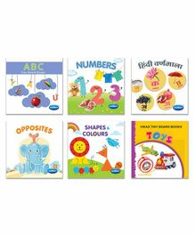 Navneet Tiny Wipe Clean Board Books Pack of 6 - English