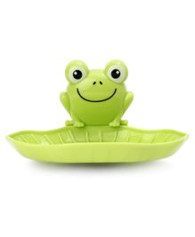Frog Face Soap Holder - Green
