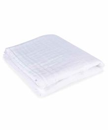 haus & kinder Muslin Double Layered Towel - White
