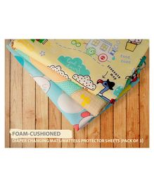 Lollipop Lane Foam Cushioned Waterproof Quickly Diaper Changing Mats Pack of 3 - Multicolor