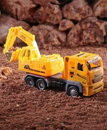 Hrijoy Free Wheel Excavator Truck Toy - Yellow