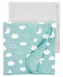 Carter's Receiving Blanket Pack of 2  - Green Grey