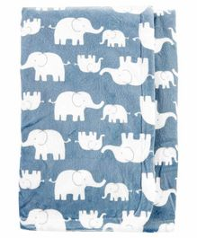 Carter's Receiving Blanket Elephant Print  - Blue