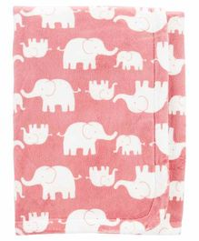 Carter's Receiving Blanket Elephant Print  - Pink