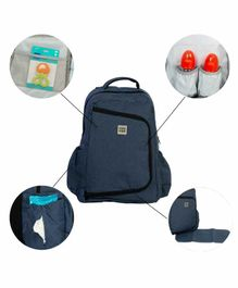 Mee Mee Multi Functional Diaper Bag With Mat - Blue