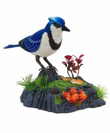 Crackles Voice Induction Activated Chirping & Dancing Bird - Blue