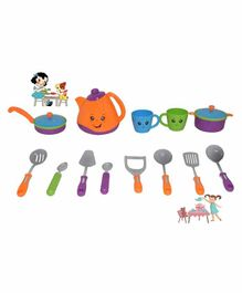 Crackles Pretend Play Tea Set - 13 Pieces (Color May vary)