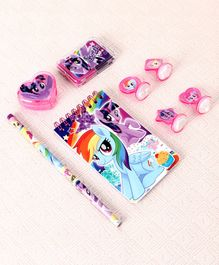 My Little Pony Stationery Set Pink Purple - 8 Pieces