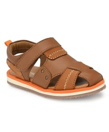 Tuskey Solid Closed Toe Sandals - Brown